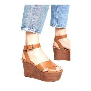 Michael Kors  Abbottt  Wedge Sandal Shoes